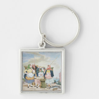 Fish Market by the Sea, c.1860 (oil on canvas) Keychain