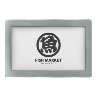 FISH MARKET GRAPHICS LOGO BELT BUCKLE