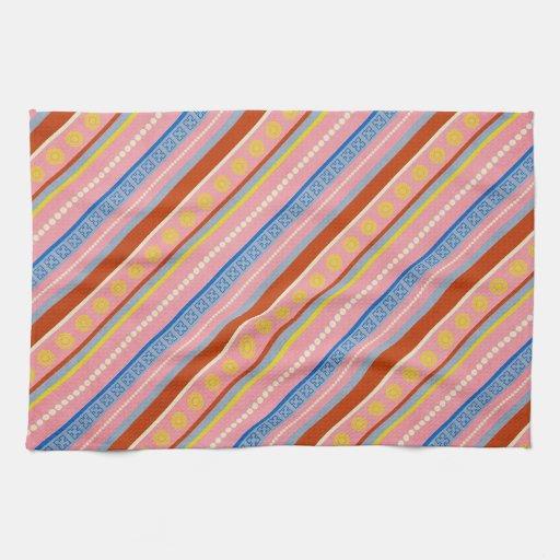 fish-market-paper-3 COLORFUL STRIPES PURPLES BLUES Towel