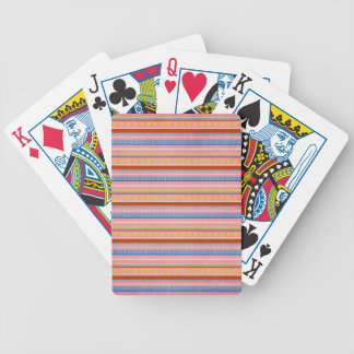 fish-market-paper-3 COLORFUL STRIPES PURPLES BLUES Playing Cards