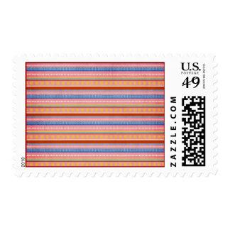 fish-market-paper-3 COLORFUL STRIPES PURPLES BLUES Stamp