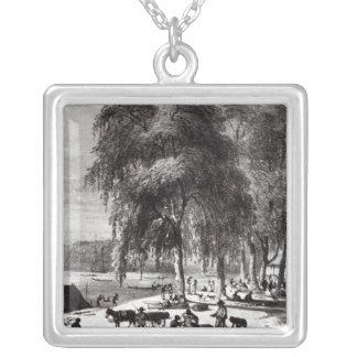 Fish Market, Paramribo Silver Plated Necklace