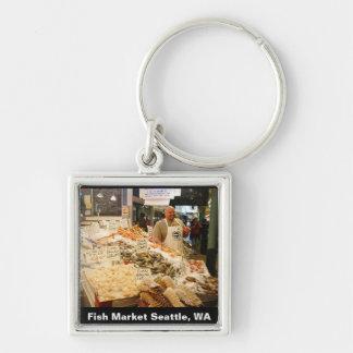 Fish Market Seattle WA Keychains