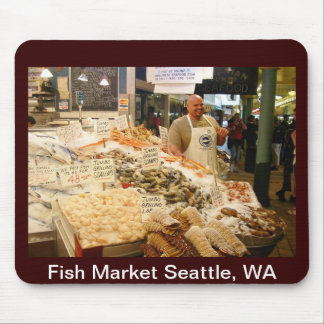 Fish Market Seattle WA Mouse Pad