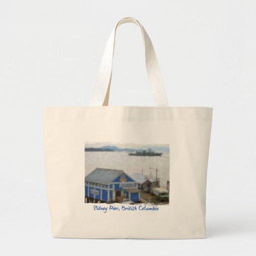 Fish Market, Sidney, BC Beach Bag