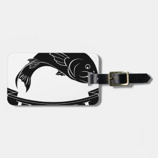 Fish menu label luggage tag