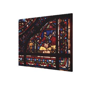 Fish merchants, detail from a window canvas print