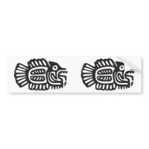 Fish, Mexican hieroglyph(Maya) Bumper Sticker