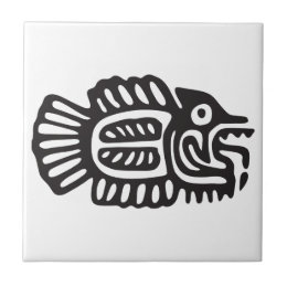 Fish, Mexican Hieroglyph(Maya) Tile