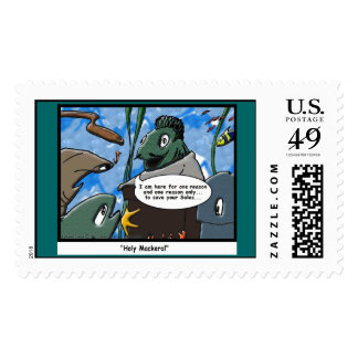 Fish Ministries Holy Mackeral Funny Postage Stamps