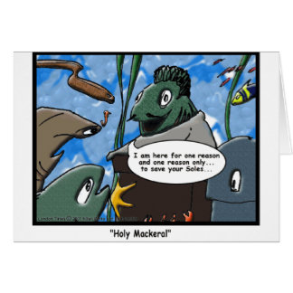 Fish Ministries Holy Mackeral Funny Tees Mugs Etc Card