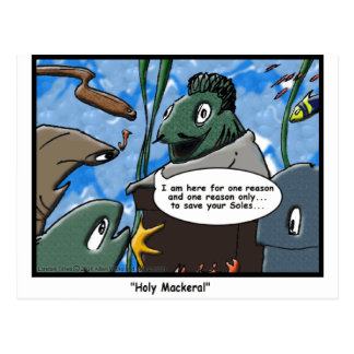 Fish Ministries Holy Mackeral Funny Tees Mugs Etc Postcard