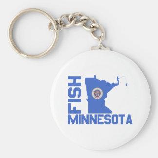 Fish Minnesota Keychain