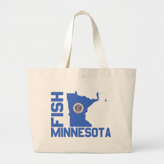 Fish Minnesota Large Tote Bag