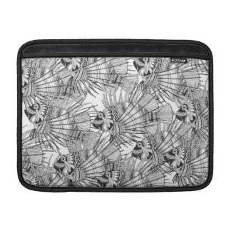 fish mirage black white MacBook air sleeve