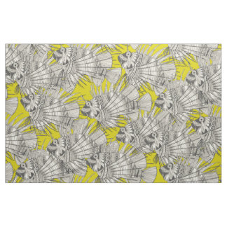 fish mirage chartreuse fabric