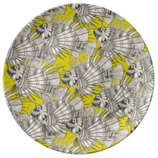 fish mirage chartreuse plate