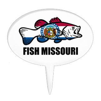 Fish Missouri Cake Topper
