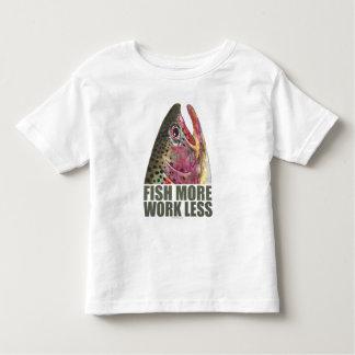 Fish More Work Less Fishing Toddler T-shirt