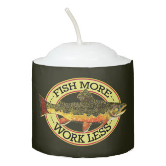 FISH MORE - WORK LESS VOTIVE CANDLE