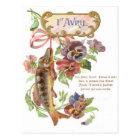Fish Morning Glory Postcard