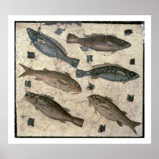 Fish (mosaic) posters
