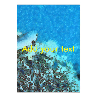 Fish moving over the reef magnetic card