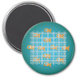 Fish Multiplication Table (3 inch) 3 Inch Round Magnet