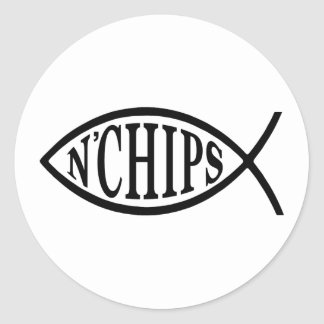 Fish N' Chips Fish Classic Round Sticker