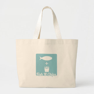 Fish N Chips Large Tote Bag