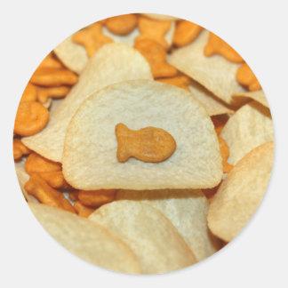 Fish 'N Chips Round Sticker
