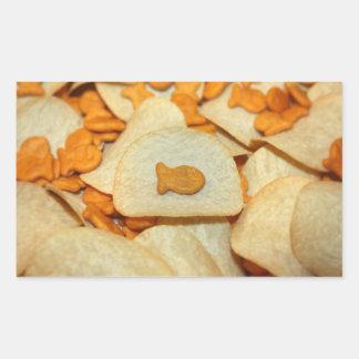 Fish 'N Chips Rectangular Sticker