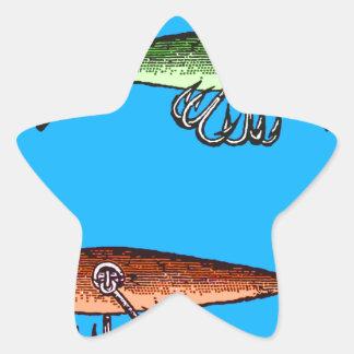 Fish N time Star Sticker