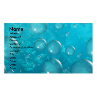 fish, Name, Address 1, Address 2, Contact 1, Co... Business Card Template