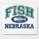 Fish Nebraska Mouse Pads