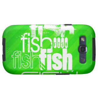 Fish; Neon Green Stripes Galaxy SIII Cover