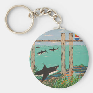 Fish Not Biting Today. Keychain