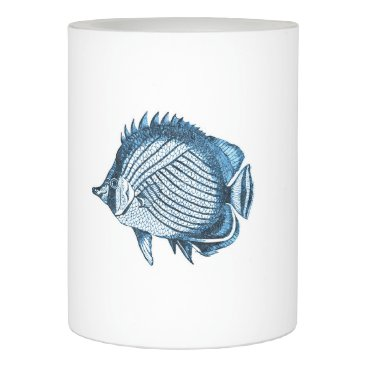 Beach Themed Fish ocean nautical coastal beach sea blue flameless candle