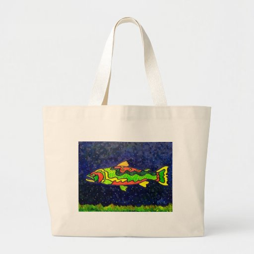 Fish of Color Jumbo Tote Bag