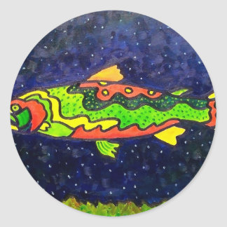 Fish of Color Round Stickers