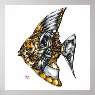 "Fish of opus number 20151028000c ""machine"" poster"