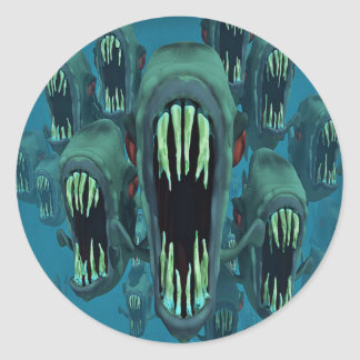 Fish Of The Deep Classic Round Sticker