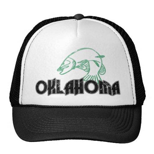 Fish Oklahoma Vintage Logo Trucker Hat Zazzle