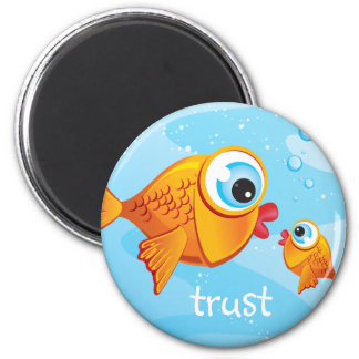 FISH - Olive & Pickle :: 2 Inch Round Magnet
