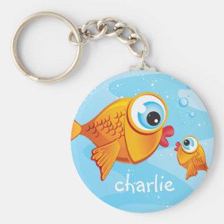 FISH - Olive & Pickle :: Basic Round Button Keychain