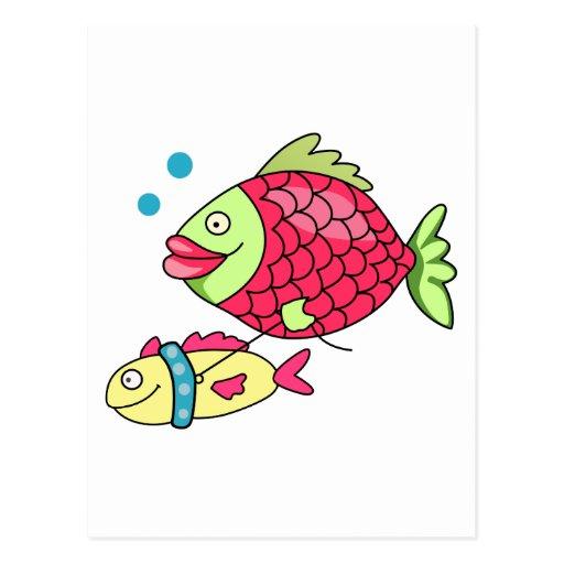 Fish on a leash postcard zazzle for Fish on a leash
