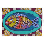 Fish On A Platter Greeting Cards