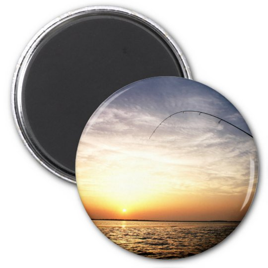 Fish on at Sunrise! Magnet