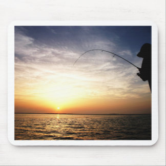 Fish on at Sunrise! Mouse Pad