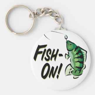 Fish-On Basic Round Button Keychain